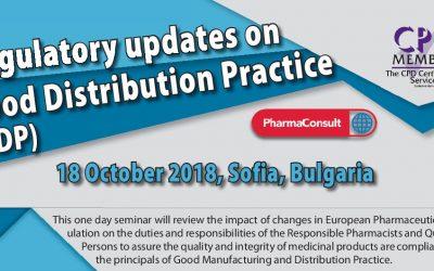 Regulatory updates on Good Distribution Practice (GDP)
